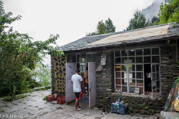בבית קפה במפל הקטן באגסו